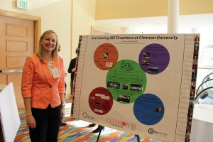 Breanne Przestrzelski representing Clemson University at the 18th annual National Collegiate Inventors and Innovators Alliance (NCIIA) Open Conference; March 2014