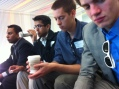 UI Fellows listen to Google's Head of Innovation after tour of its global headquarters during Stanford E-Week 2012.