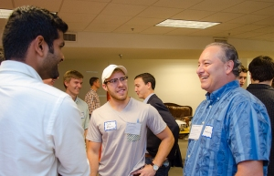 John Santa Lucia (right), Fellows Faculty Sponsor;  Professor at Wayne State University and Owner, DNA Software, Inc.; Southeastern Regional Meetup